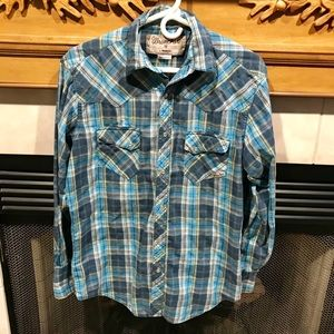 Wrancher by Wrangler Men's Western Pearl Snaps